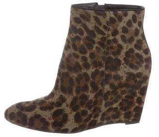 Brian Atwood Ponyhair Wedge Booties