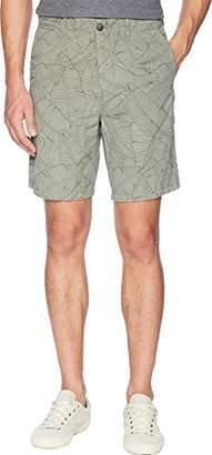 BOSS ORANGE Men's Allover Palm Print Cotton Chino Short