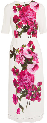 Dolce & Gabbana - Floral-print Crepe Dress - White $2,995 thestylecure.com