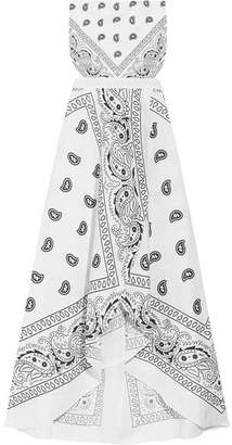 Miguelina - Ines Cutout Printed Cotton Midi Dress - White $395 thestylecure.com