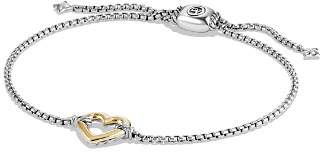 David Yurman Cable Collectibles Heart Station Bracelet with 18K Gold