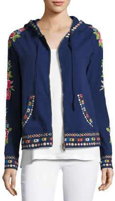 JWLA For Johnny Was Rina Embroidered Hoodie, Plus Size $220 thestylecure.com