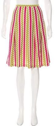 Lafayette 148 Printed Knee-Length Skirt
