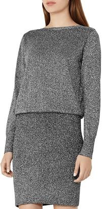 REISS Blossom Metallic Blouson Dress $330 thestylecure.com