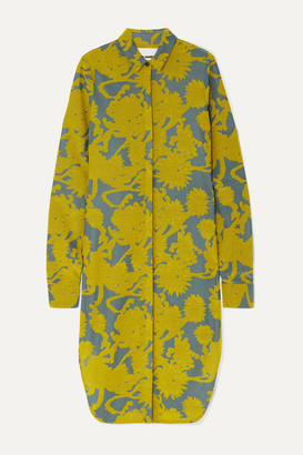 Jil Sander Floral Stretch-jacquard Tunic - Yellow