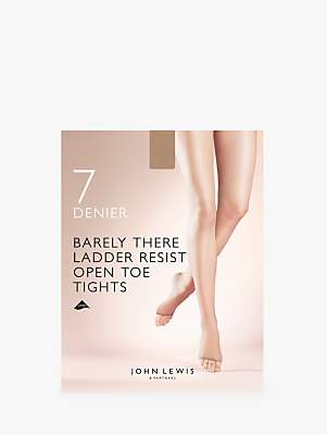 ad0230b62a3ec John Lewis & Partners 7 Denier Barely There Ladder Resist Open Toe Tights,  ...