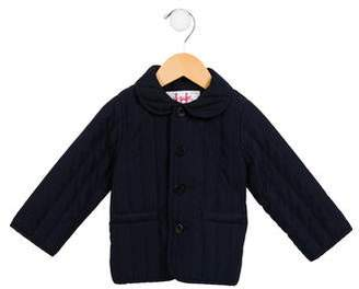 Il Gufo Girls' Quilted Button-Up Jacket