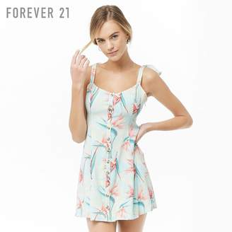 Forever 21 (フォーエバー 21) - Forever 21 リボンストラップフレアワンピース