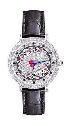 テキサスHoldem Pokerダイヤル腕時計ラボダイヤモンドベゼルメンズレディースレザーバンドストラップ新しい