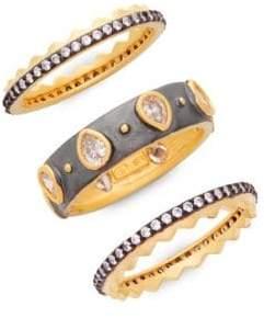 Freida Rothman Bezel Three Stack Ring Set