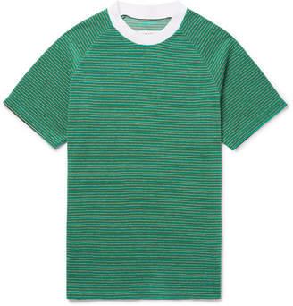 Maison Margiela Striped Cotton-Blend Terry T-Shirt