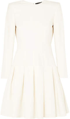Alexander McQueen Wool-blend Cady Mini Dress - Ivory