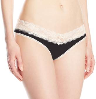 Honeydew Intimates Women's Ahna Thong, Black/Silver