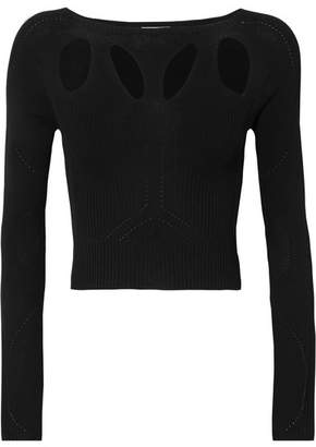 Broochini Budelli Cropped Cotton Top - Black