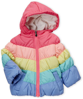 Osh Kosh B'gosh (Infant Girls) Rainbow Hooded Puffer Coat