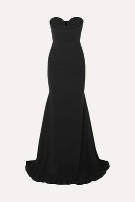 Alex Perry Ayer Strapless Crepe Gown - Black