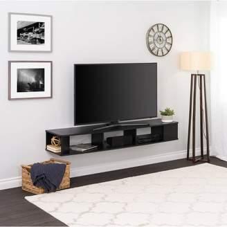 "Prepac 70"" Wall Mounted TV Stand Black"
