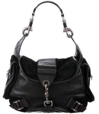 Christian Dior Leather Rebel Hobo Black Leather Rebel Hobo