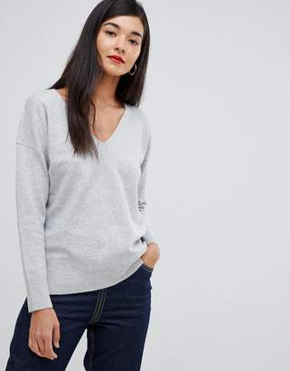 French Connection Dehla Valli Wool Blend V-Neck Sweater