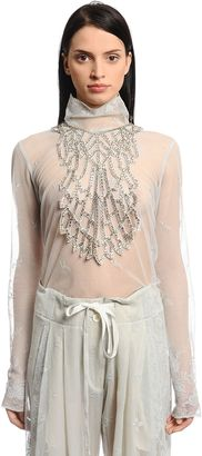 Ann Demeulemeester Georgette Necklace W/ Crystals