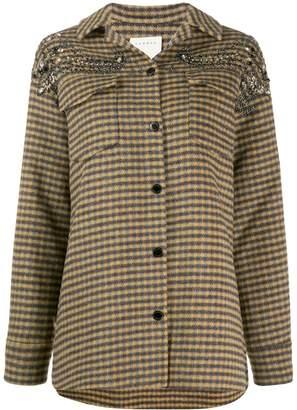 Sandro Paris bead embroidered jacket