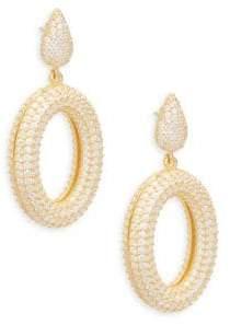 Azaara Crystal and Sterling Silver Drop Earrings