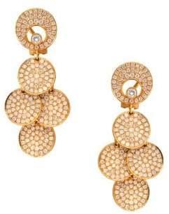Diamond and 18K Rose Gold Hanging Drop Earrings, 3.75 TCW
