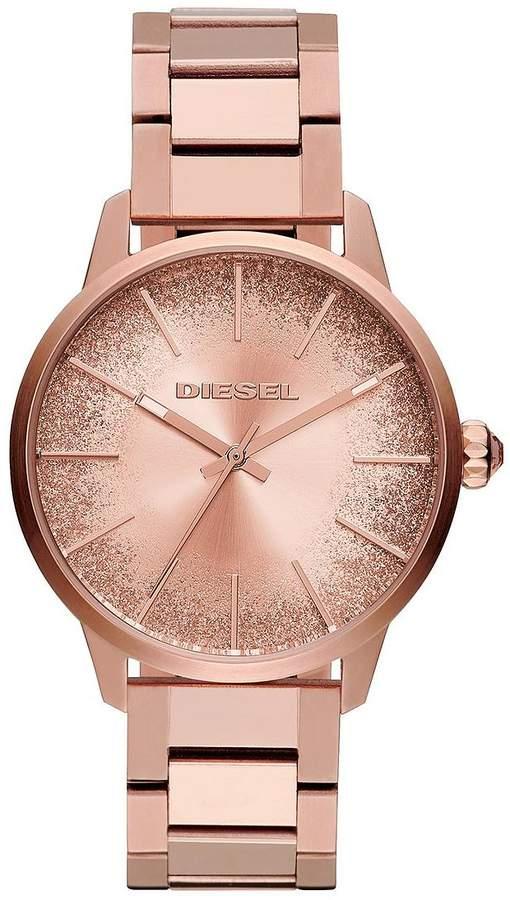 Castilla Rose Gold Tone Glitter Effect Sunray Dial Ladies Watch