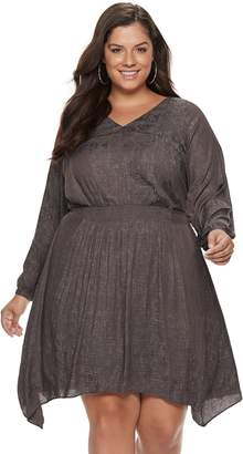 JLO by Jennifer Lopez Plus Size Smocked Fit & Flare Dress