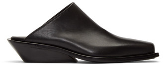 Ann Demeulemeester Black Leather Loafers