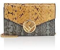 Fendi Women's Snakeskin Chain Wallet - Tan, Blue