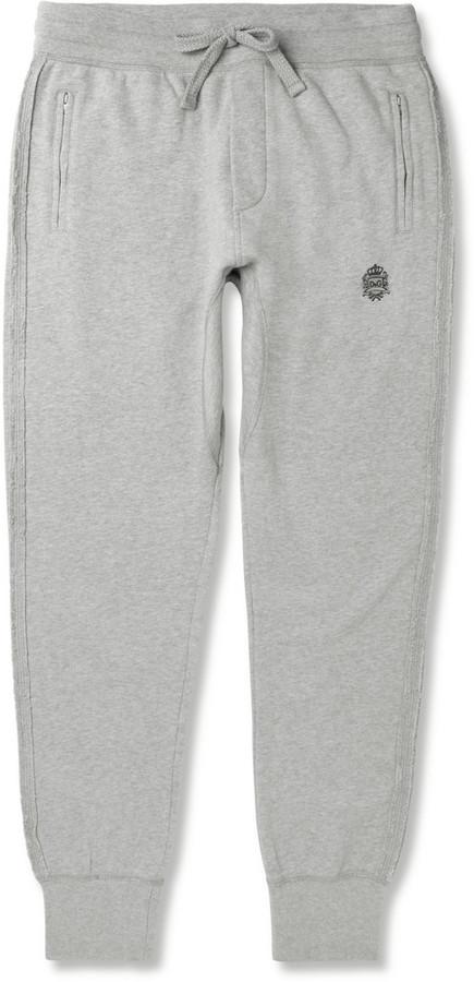 Dolce & Gabbana Tapered Loopback Cotton-Jersey Sweatpants