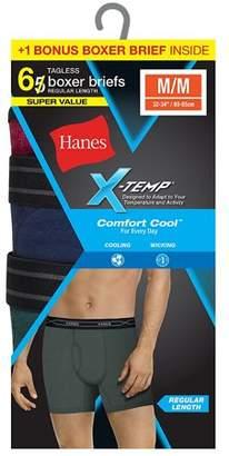 Hanes Men's X-Temp Comfort Cool Boxer Brief, 6 Pack