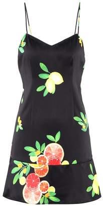 LPA Printed stretch-silk minidress