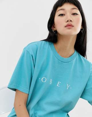 Obey relaxed t-shirt with front logo