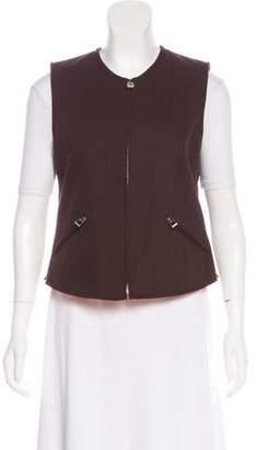 Hermes Herringbone Zip-Up Vest