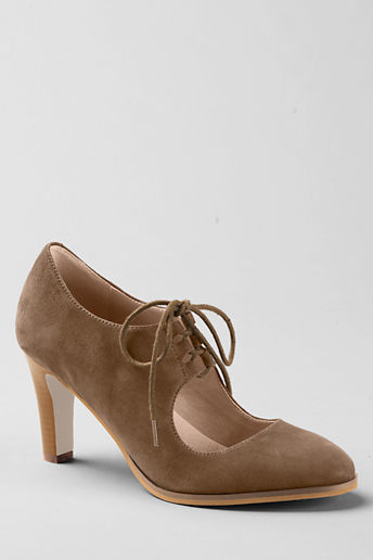 Lands' End Women's Remy High Heel Ghillie Lace-up shoes