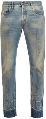 Gucci Stain-effect tapered-leg jeans
