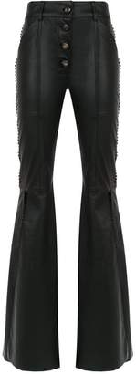 Andrea Bogosian panelled leather trousers