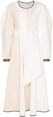 REJINA PYO voluminous-sleeve panelled maxi dress