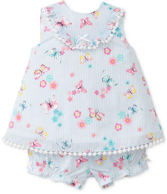 Little Me 2-Pc. Butterfly-Print Outfit, Baby Girls