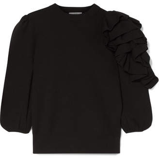 Co Ruffled Merino Wool Sweater - Black