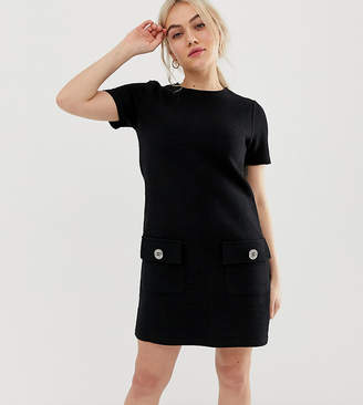 New Look Petite boucle tunic in black