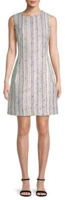 Oscar de la Renta Stripe Sheath Dress