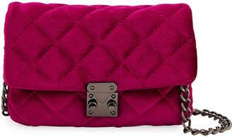 Jagger Kc Jane Quilted Velvet Mini Crossbody Bag