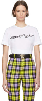 Versace White With Love T-Shirt