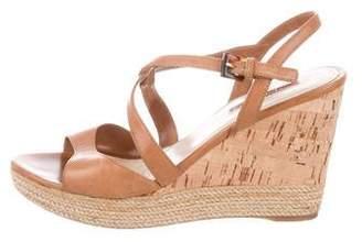 5a6515946 Prada Brown Wedge Heel Women's Sandals - ShopStyle