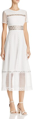 Maje Rome Lace-Overlay Dress $570 thestylecure.com