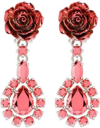 Prada Rose drop earrings