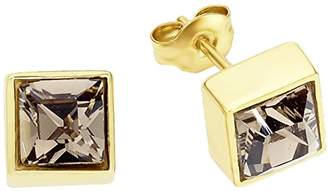 Swarovski NOELANI Women's Earrings Brass Rhodium-Plated Crystal Elements - 551885 Brown